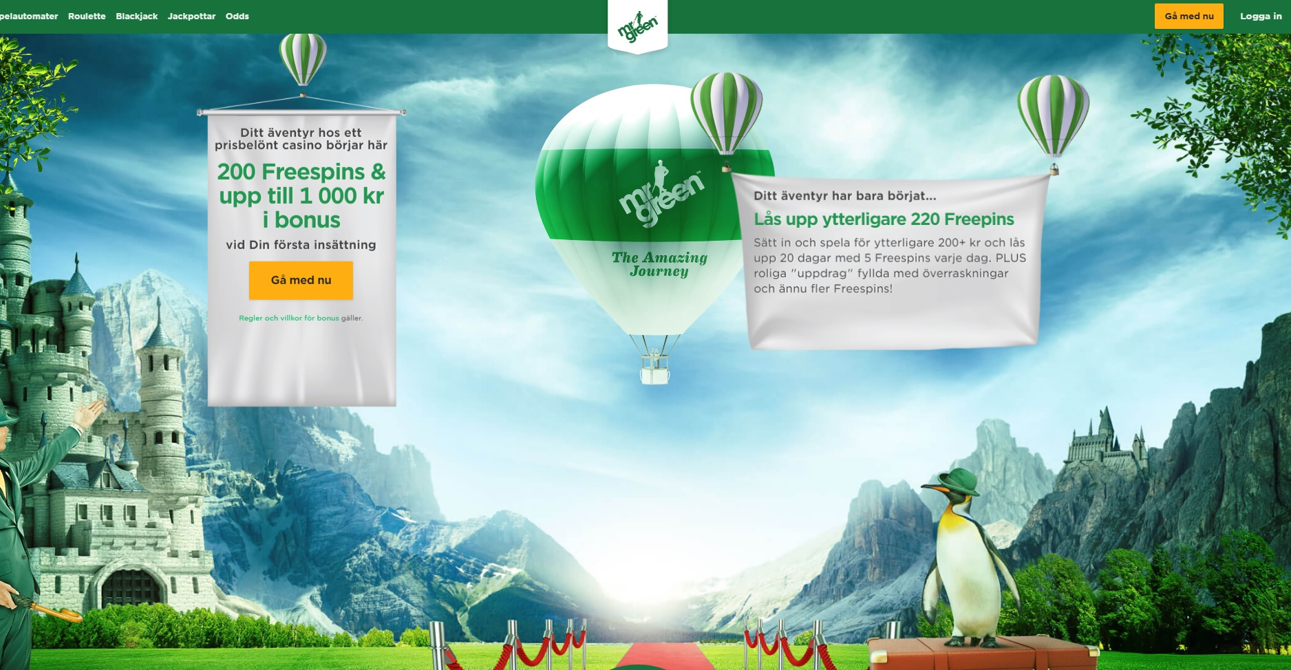Mr Green site